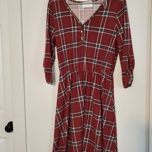French Grey long sleeved dress